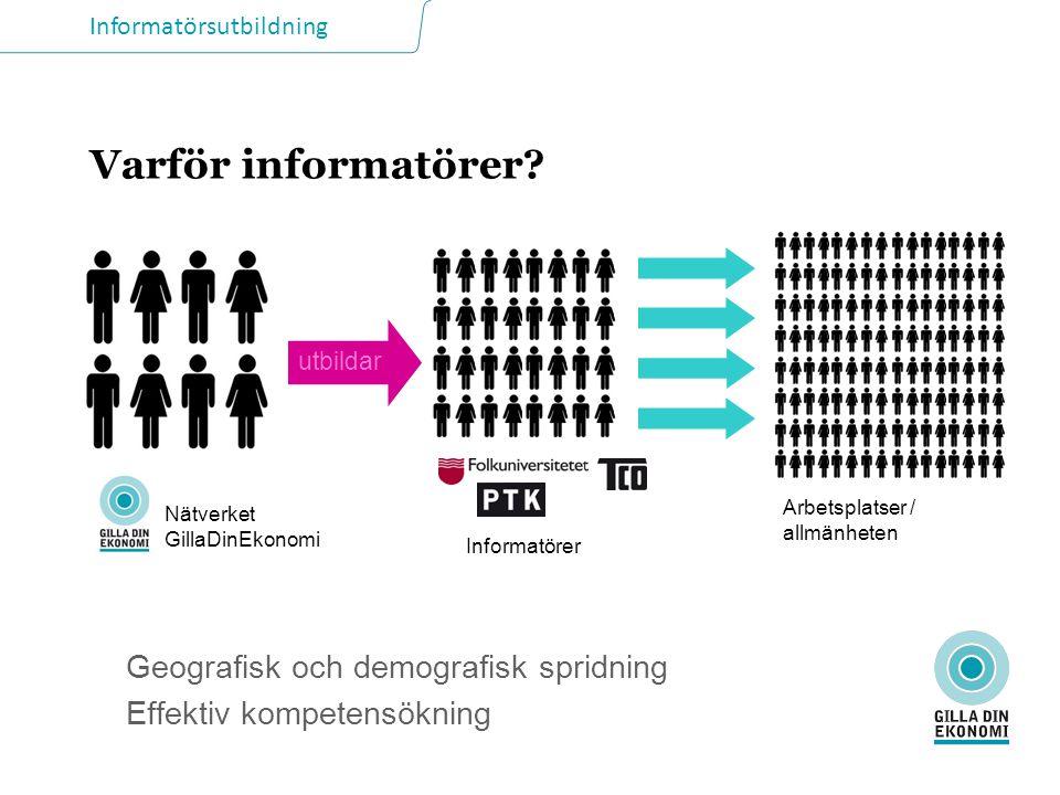 Informatörsutbildning Varför informatörer.