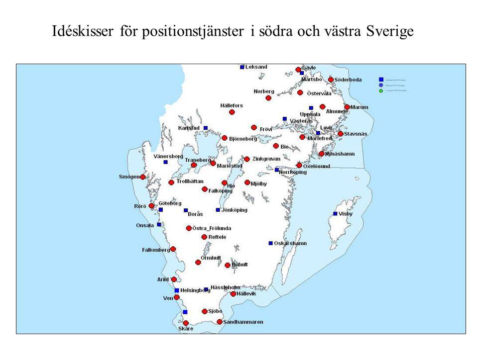 Idéskisser för positionstjänster i södra och västra Sverige