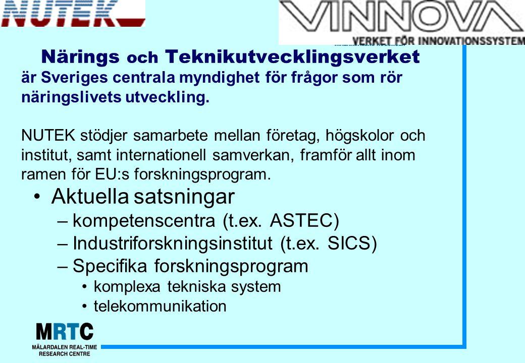 Teknikbrostiftelsen Stöd till samverkan mellan universitet/högskola och näringsliv, speciellt de små- och medelstora företagen.