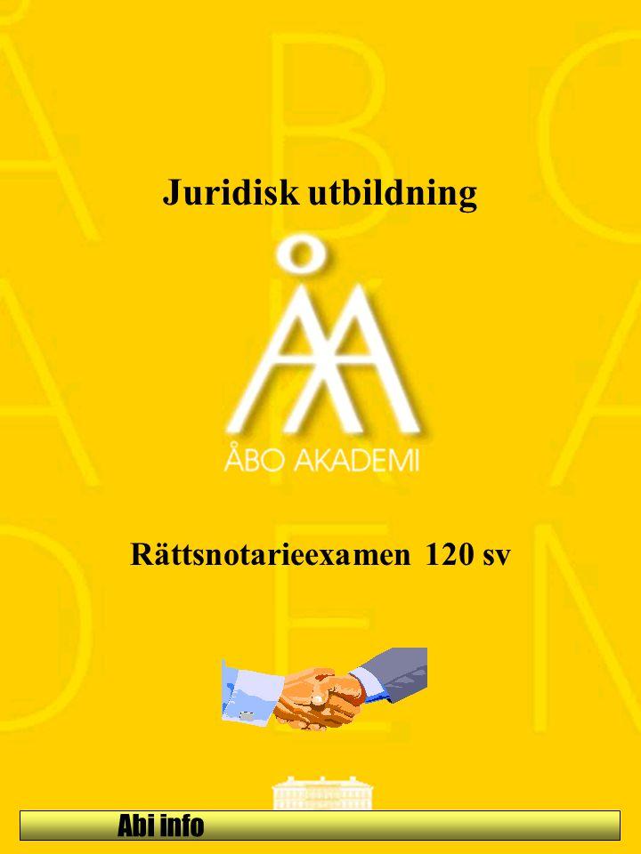 Abi info Juridisk utbildning Rättsnotarieexamen 120 sv