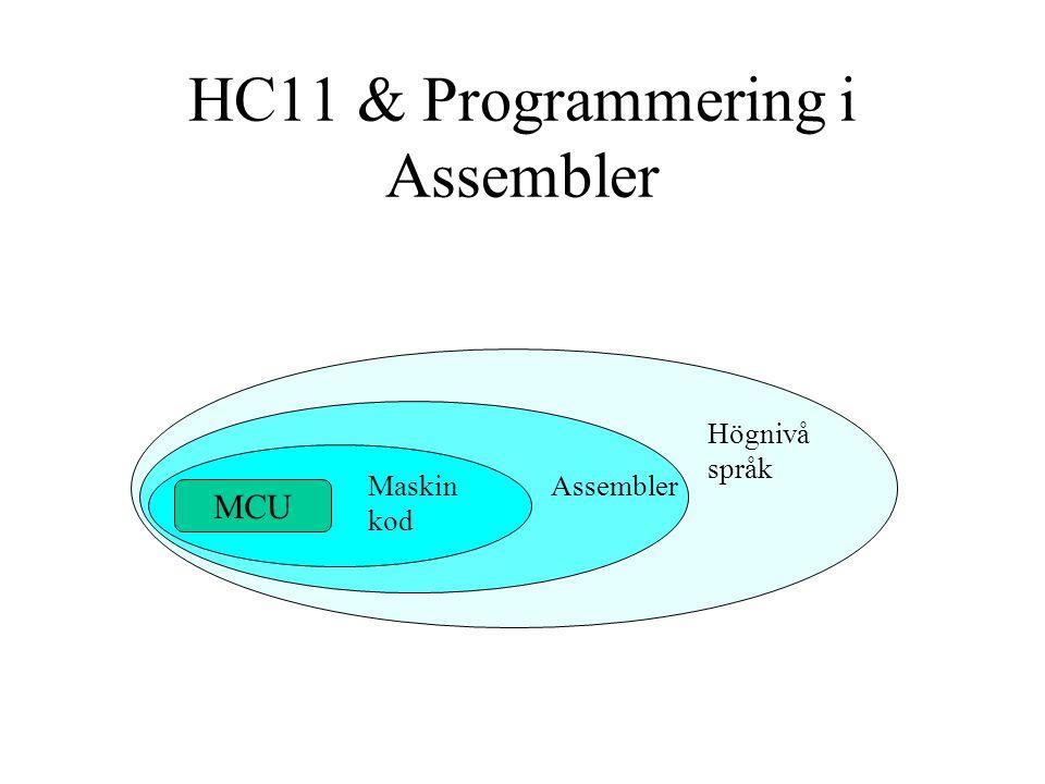 Maskinkod (Binärkod) De kombinationer av 1:or och 0: som finns lagrade i programminnet och som processorn jobbar med.