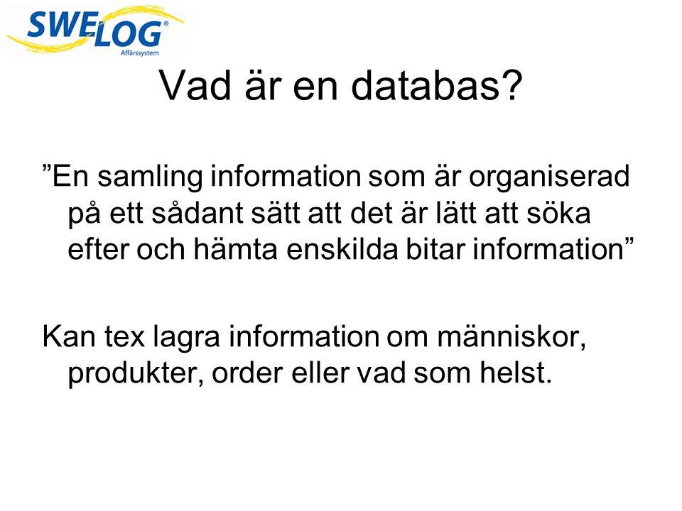 Vad är en databas.