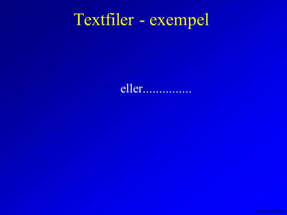 Anders Sjögren Textfiler - exempel eller...............