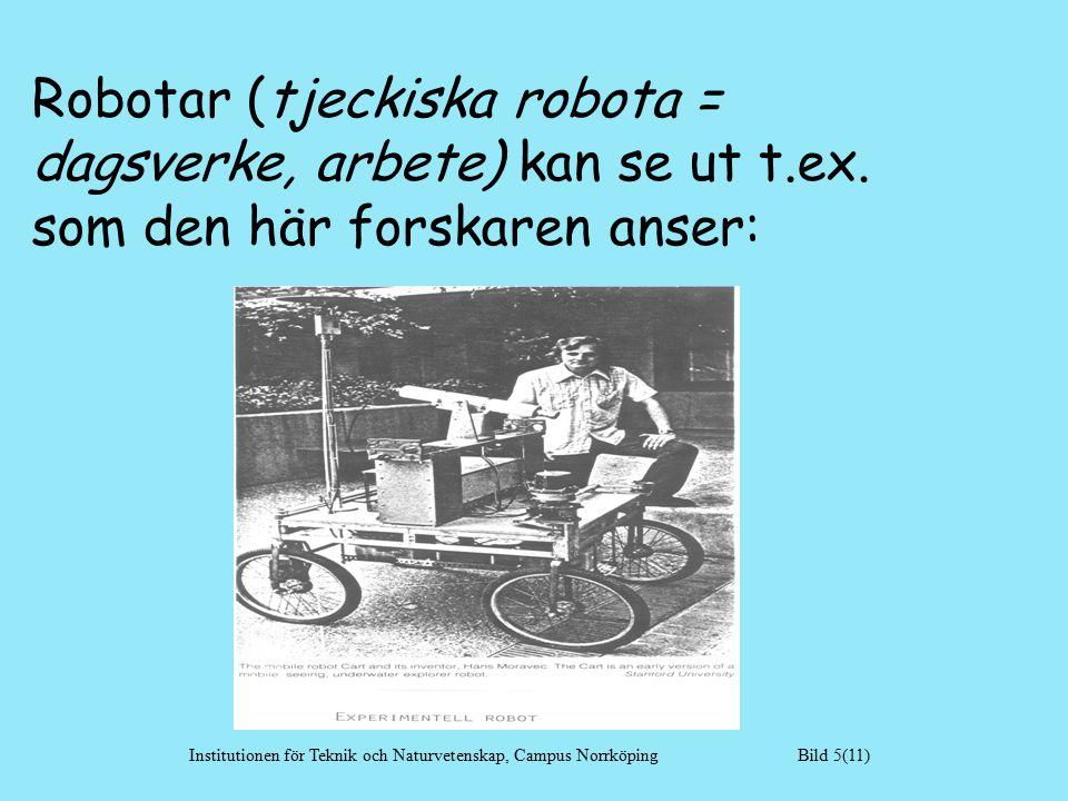 Robotar (tjeckiska robota = dagsverke, arbete) kan se ut t.ex.