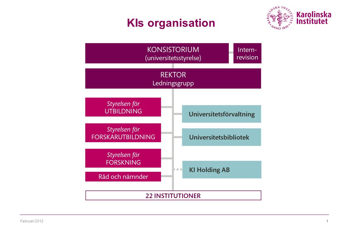 Februari 20121 KIs organisation 22