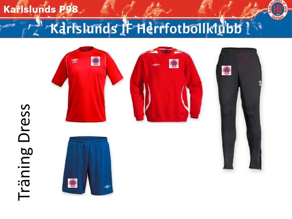 Spelare Representation Träning, cup samt match Arbetet, skolan samt Fritid Guld brodyr på vit/svart bakgrund.