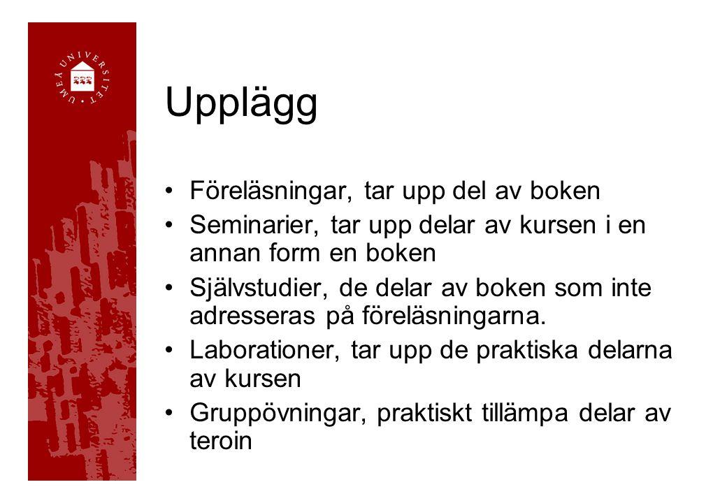 Examination & betyg Gruppuppgiften Seminarierna (obligatoriska) Tentamen Betyg (U) / G / VG