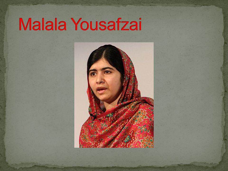 Född 12 juli 1997 i Pakistan.Utsattes för ett mordförsök av talibanerna 2012.
