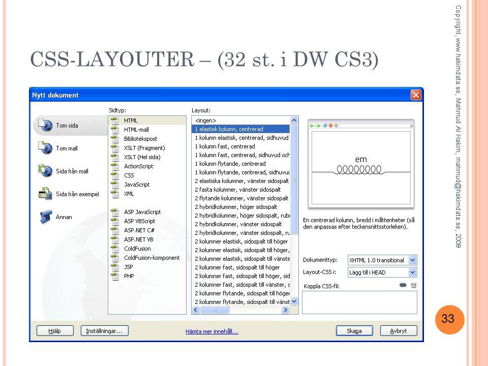 33 CSS-LAYOUTER – (32 st.