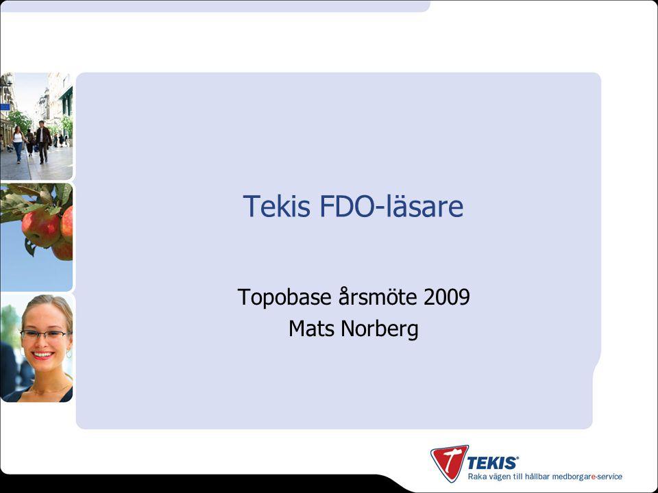 Inledning - Tekis FDO-läsare..är ett tillägg till AutoCAD Map/Civil eller Topobase.