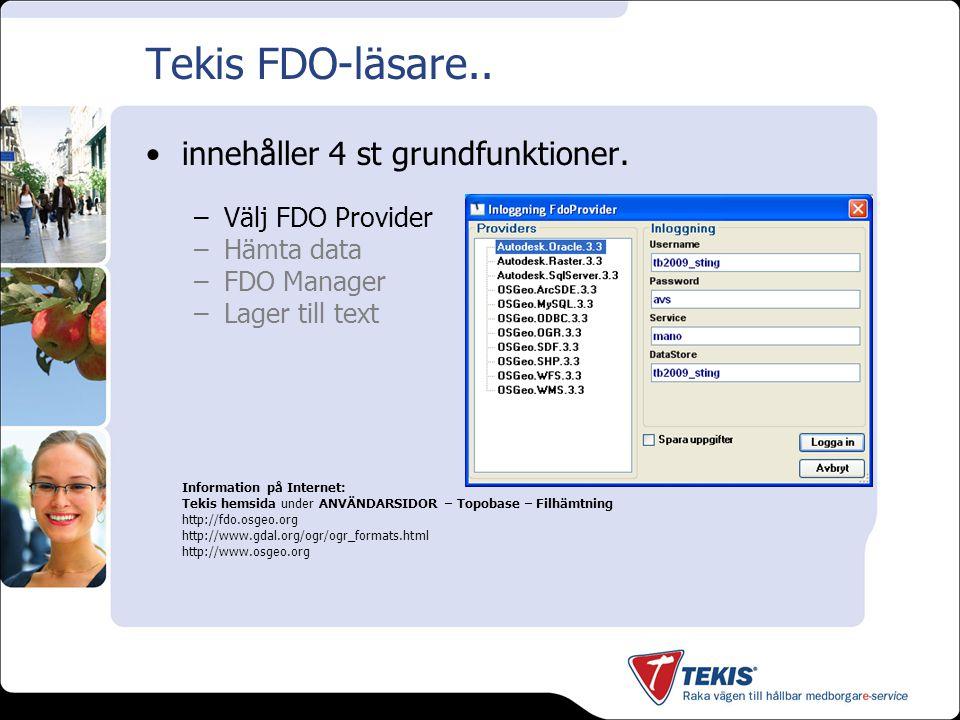 Tekis FDO-läsare..innehåller 4 st grundfunktioner.