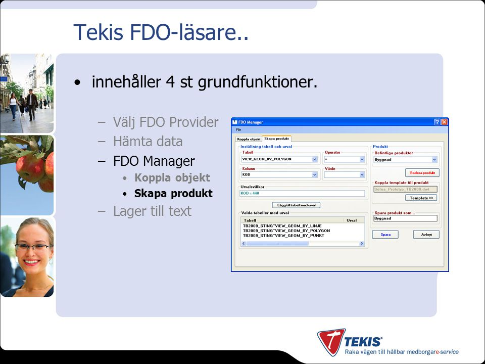 Tekis FDO-läsare.. Skapa produkt - Exempel