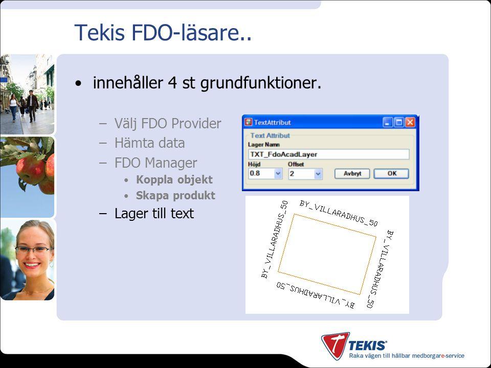Tekis FDO-läsare.. Demo