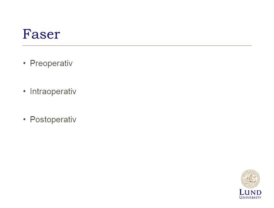 Faser Preoperativ Intraoperativ Postoperativ