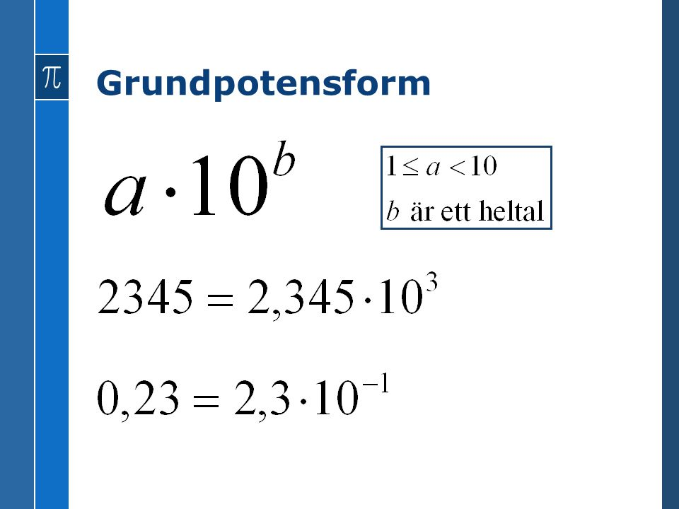 Grundpotensform