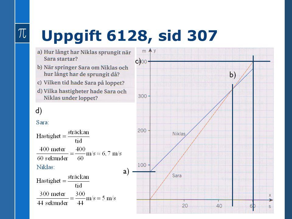 Uppgift 6128, sid 307 a) b) c) d)
