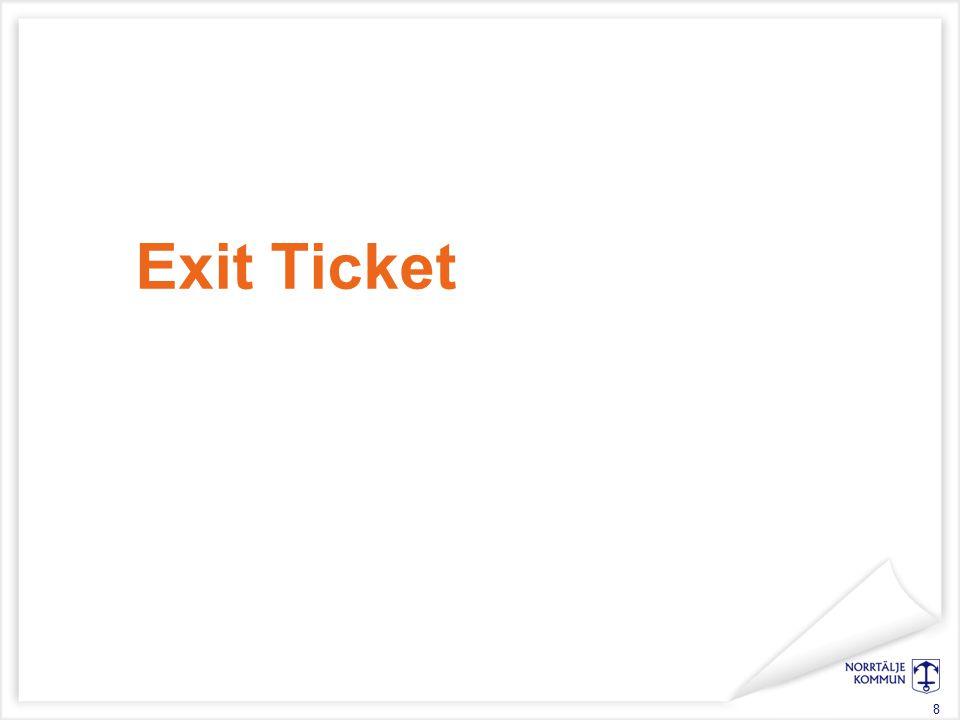 Exit Ticket 8