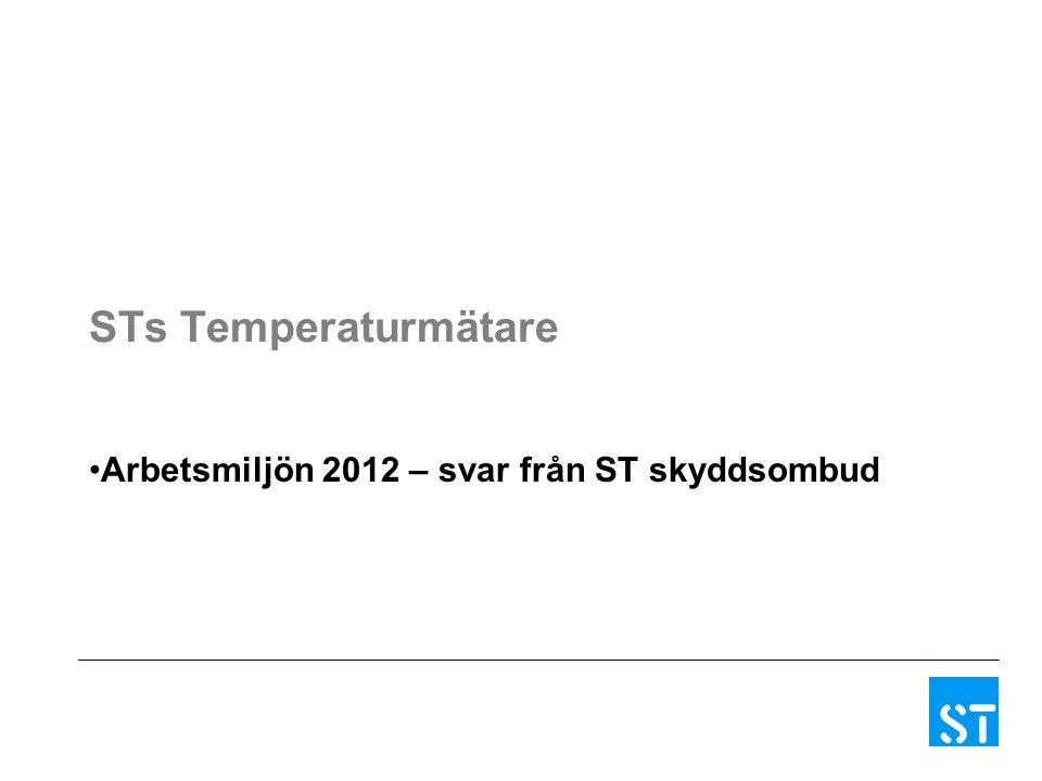 STs Temperaturmätare Arbetsmiljön 2012 – svar från ST skyddsombud