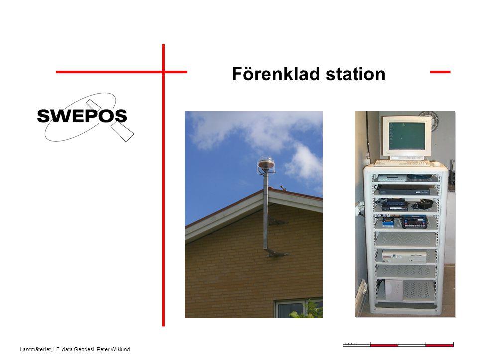 Lantmäteriet, LF-data Geodesi, Peter Wiklund Förenklad station