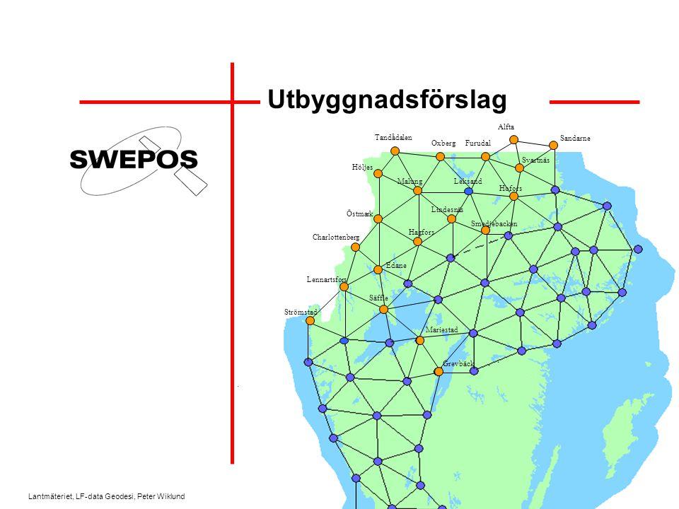 Lantmäteriet, LF-data Geodesi, Peter Wiklund Produktionsfas Tjänsten är tillgänglig för produktionstillämpningar Fortlöpande kontakter –Produktionsrapporter m.m.