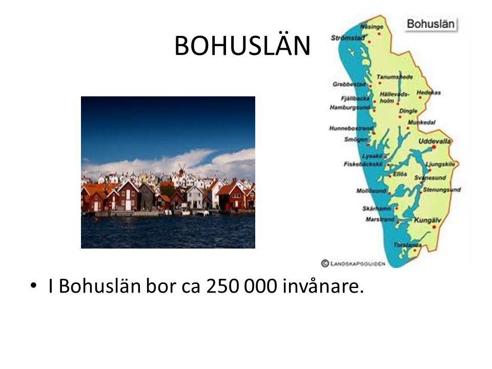 BOHUSLÄN I Bohuslän bor ca 250 000 invånare.