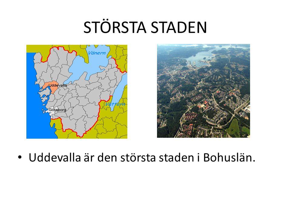 STÖRSTA STADEN Uddevalla är den största staden i Bohuslän.