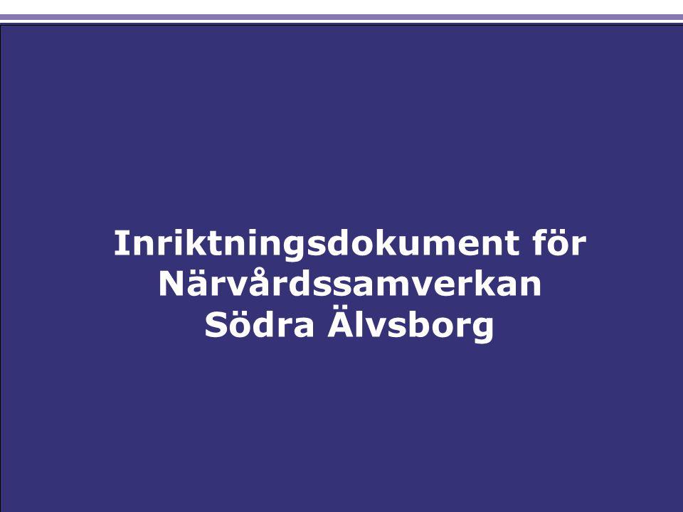 Inriktningsdokument för Närvårdssamverkan Södra Älvsborg