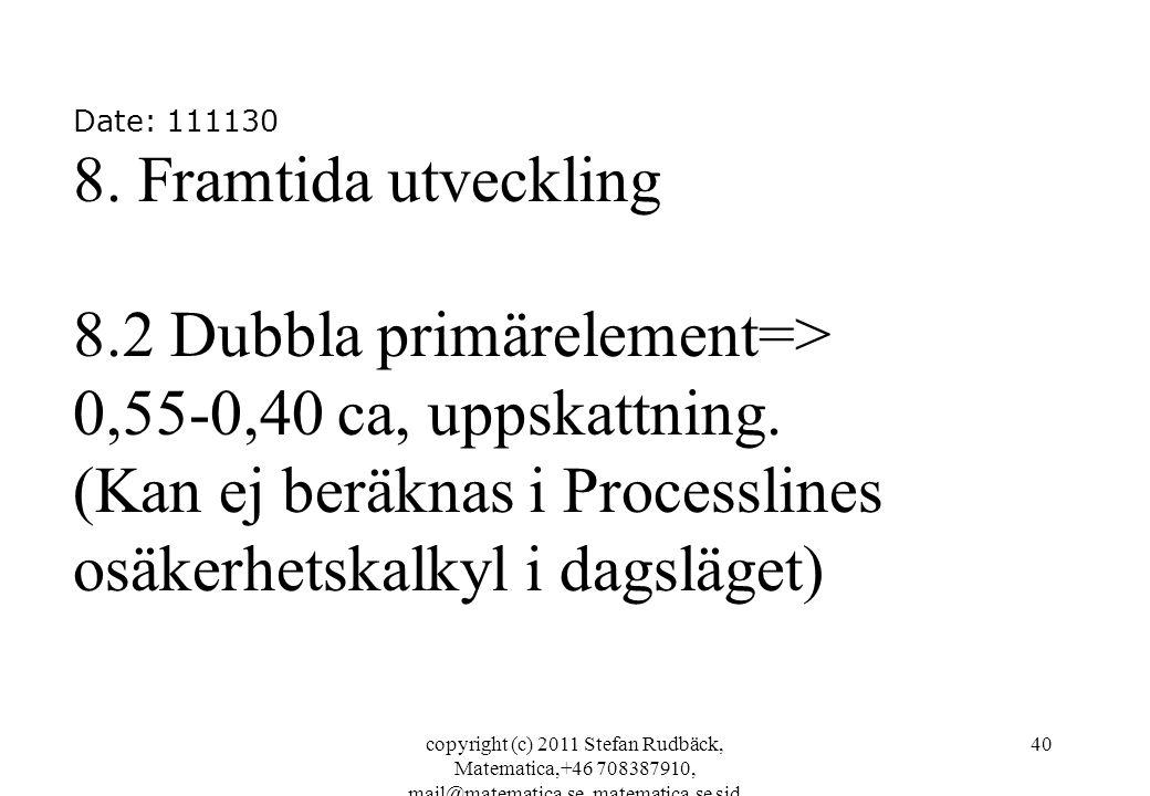 copyright (c) 2011 Stefan Rudbäck, Matematica,+46 708387910, mail@matematica.se, matematica.se sid 40 Date: 111130 8.