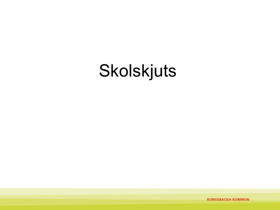 Skollagen Kungsbacka kommuns skolskjutsregler Skolskjutsar i mån av plats Skolskjutsbevis och ansökan om skolskjuts