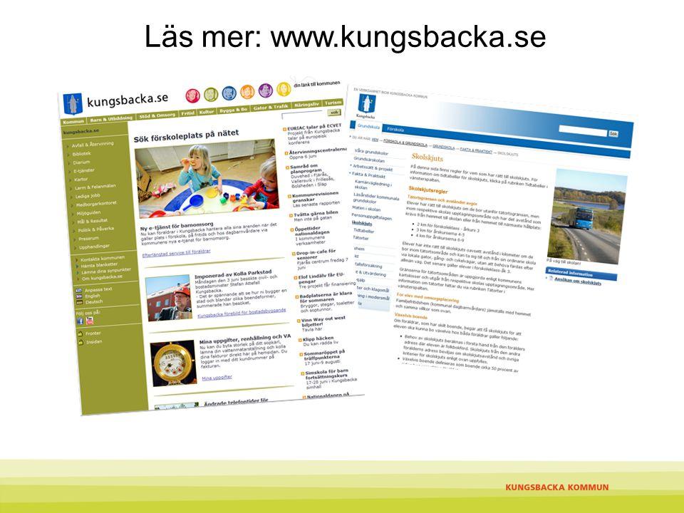 Läs mer: www.kungsbacka.se