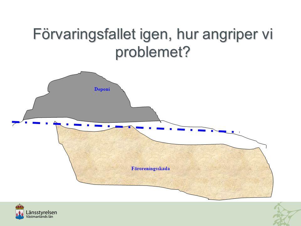 Förvaringsfallet igen, hur angriper vi problemet? Deponi Föroreningsskada Deponi