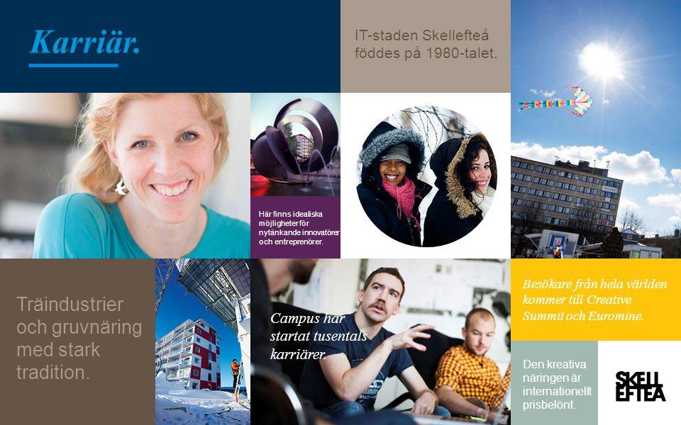 IT-staden Skellefteå föddes på 1980-talet. Här finns idealiska möjligheter för nytänkande innovatörer och entreprenörer. Campus har startat tusentals