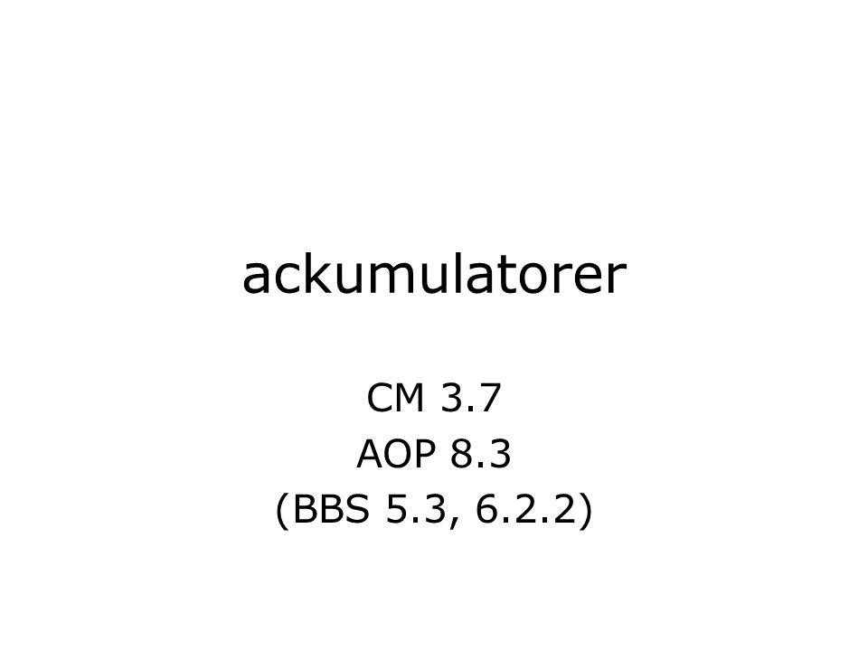ackumulatorer CM 3.7 AOP 8.3 (BBS 5.3, 6.2.2)