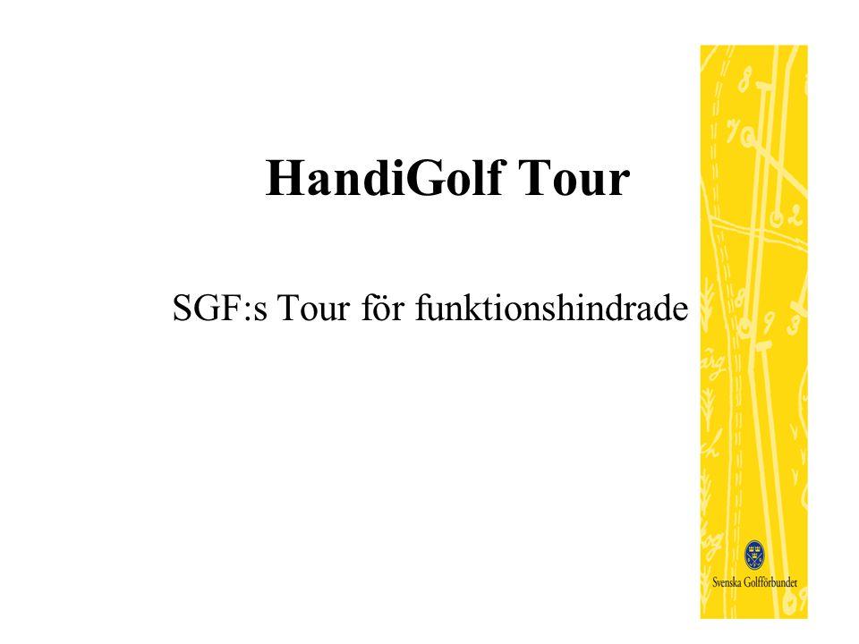 HandiGolf Tour SGF:s Tour för funktionshindrade