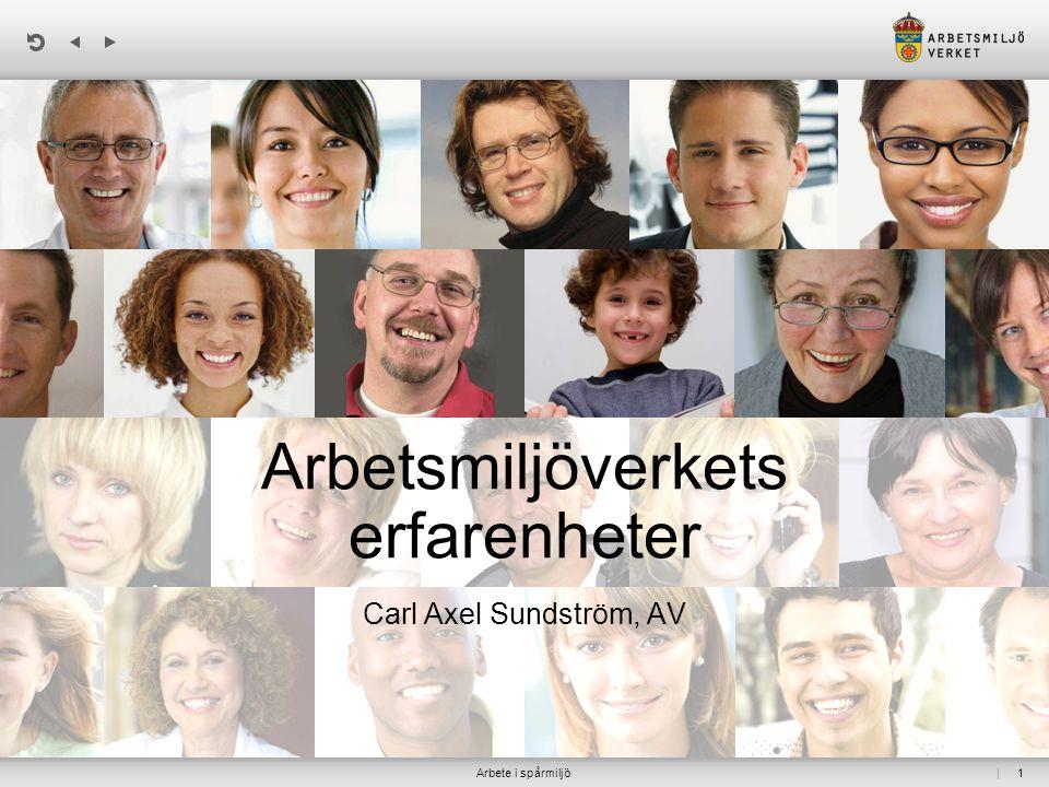 | 1 Arbetsmiljöverkets erfarenheter Carl Axel Sundström, AV Arbete i spårmiljö