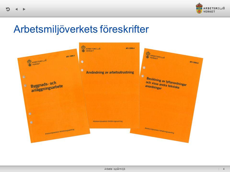 | Arbetsmiljöverkets föreskrifter Arbete i spårmiljö4