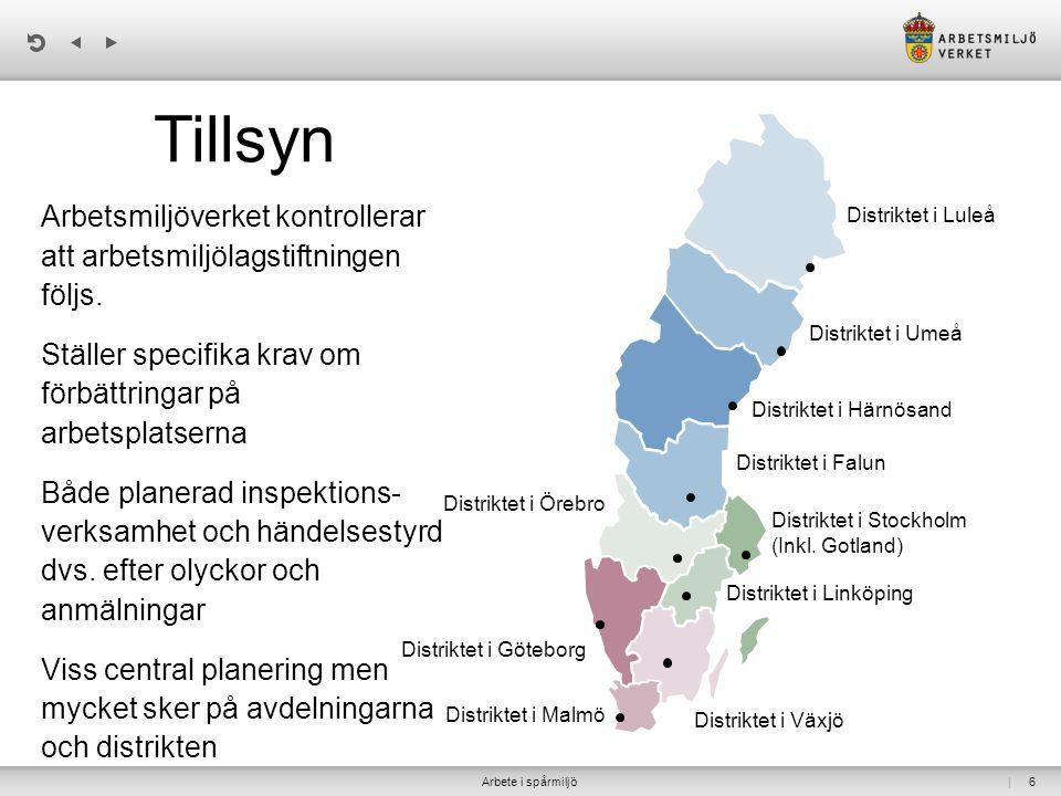 | 6 Distriktet i Luleå Distriktet i Umeå Distriktet i Härnösand Distriktet i Falun Distriktet i Stockholm (Inkl. Gotland) Distriktet i Linköping Distr