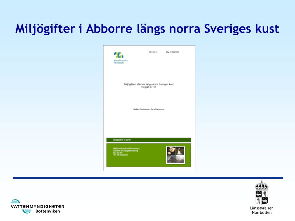 Miljögifter i Abborre längs norra Sveriges kust