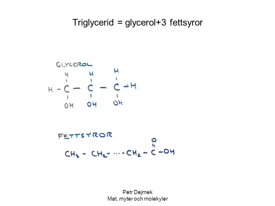Petr Dejmek Mat, myter och molekyler Fettsyror