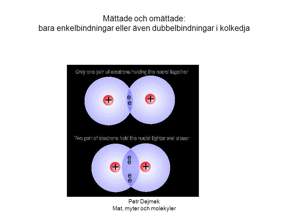 Petr Dejmek Mat, myter och molekyler Mättade och omättade: bara enkelbindningar eller även dubbelbindningar i kolkedja