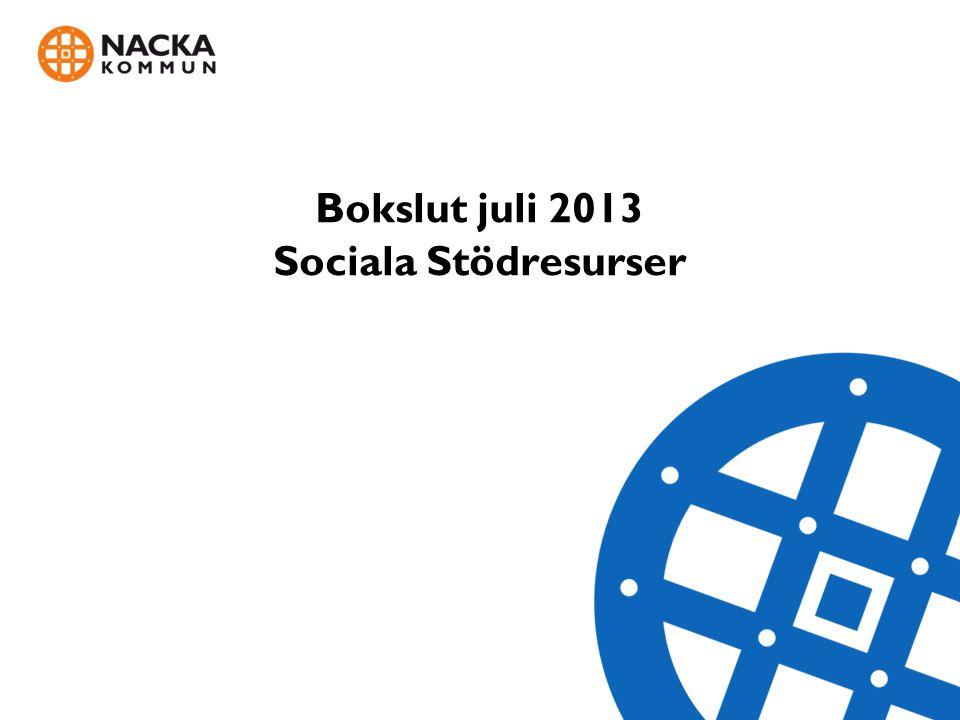 Bokslut juli 2013 Sociala Stödresurser