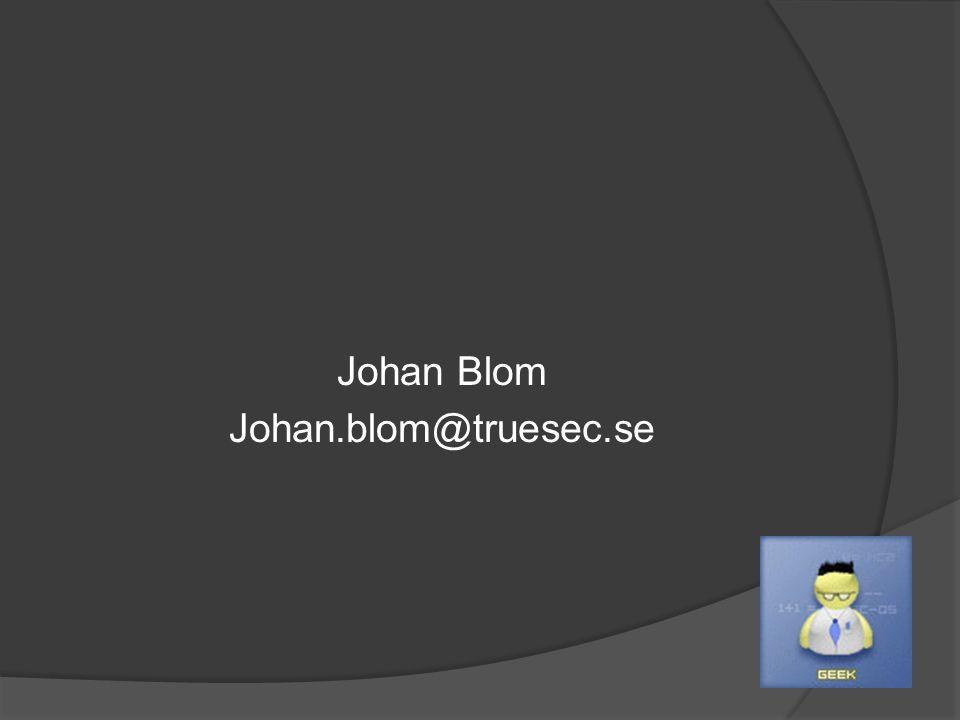 Johan Blom Johan.blom@truesec.se