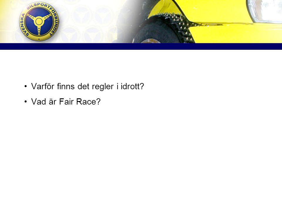Varför finns det regler i idrott Vad är Fair Race