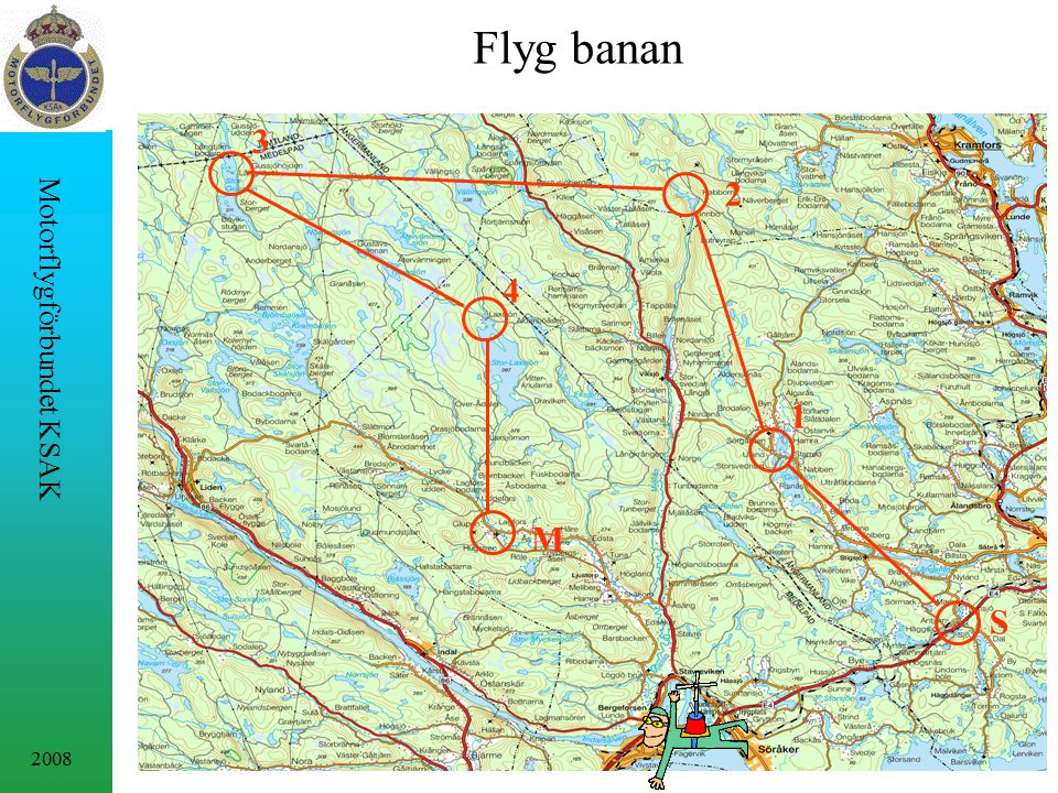 2008 Motorflygförbundet KSAK M S 1 2 3 4 Flyg banan