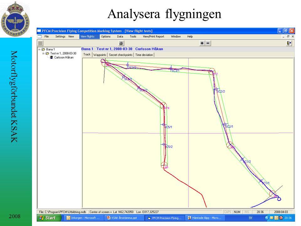 2008 Motorflygförbundet KSAK Analysera flygningen