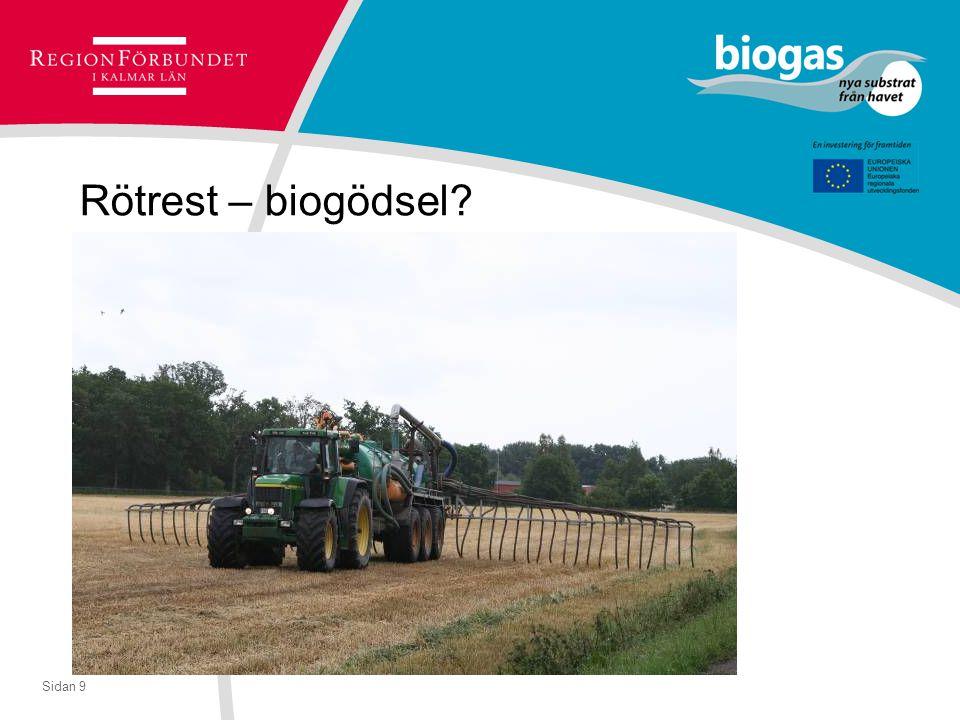 Sidan 9 Rötrest – biogödsel?