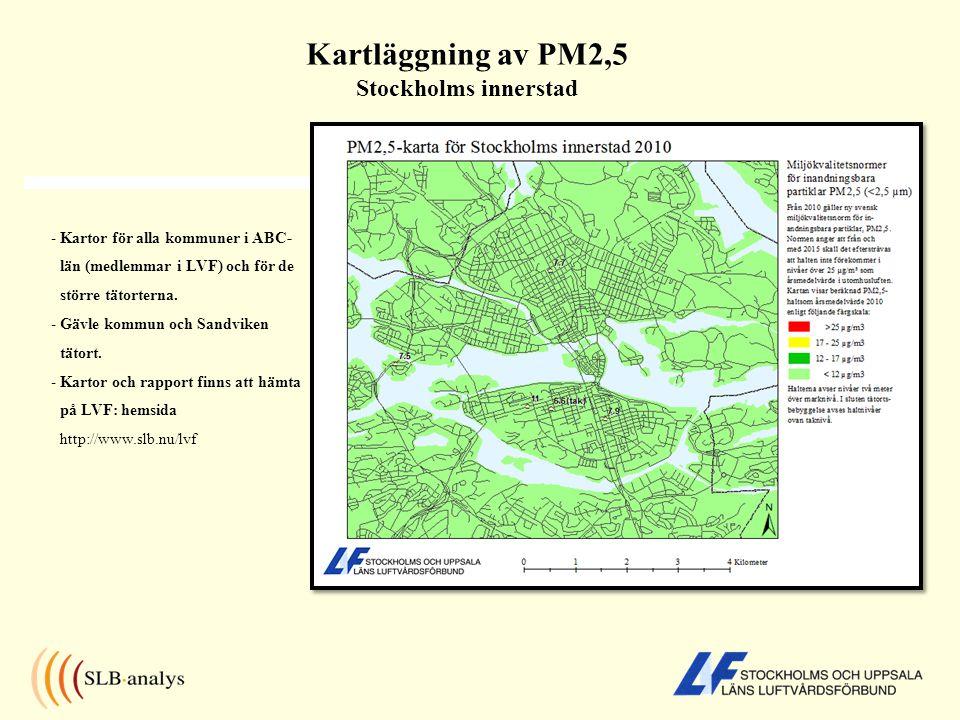 - Kartor för alla kommuner i ABC- län (medlemmar i LVF) och för de större tätorterna. - Gävle kommun och Sandviken tätort. - Kartor och rapport finns