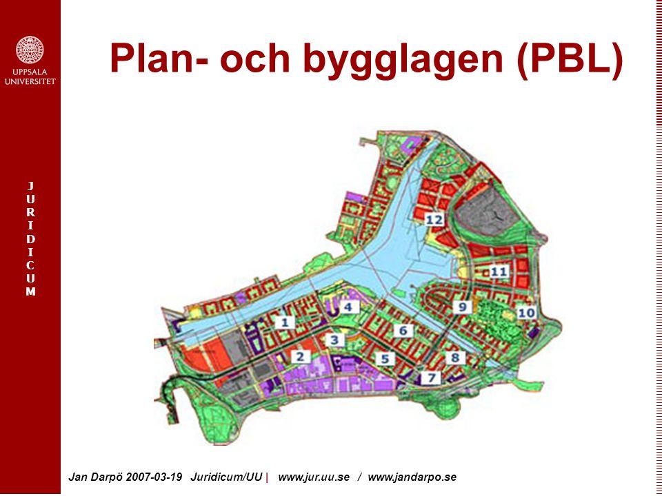 JURIDICUMJURIDICUM Jan Darpö 2007-03-19 Juridicum/UU | www.jur.uu.se / www.jandarpo.se Statlig styrning - kommunalt självstyre Regelstyrning - tillstånd - tillsyn Lokalt och regional ansvar, 17 kap.