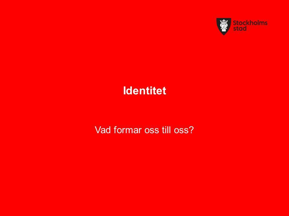 Identitet Vad formar oss till oss?
