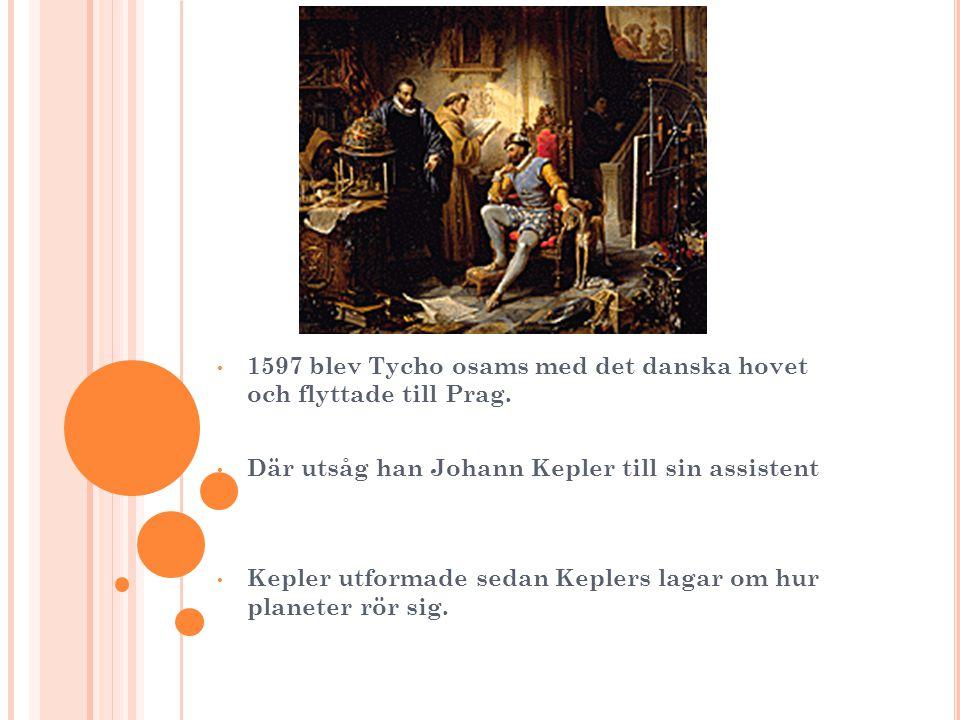 1597 blev Tycho osams med det danska hovet och flyttade till Prag.